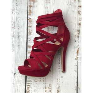 Shoes - Criss Cross Platform Heels